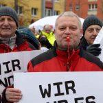 700 Beschäftigte des Öffentliches Dienstes im Warnstreik  am 22. März 2018 in Hanau