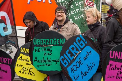 Fotowettbewerb union in action - Gewerkschaftsjugend aktiv