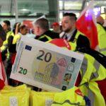 Streik der Beschäftigten in der Luftsicherheit am 15.01.2019 am Flughafen Frankfurt