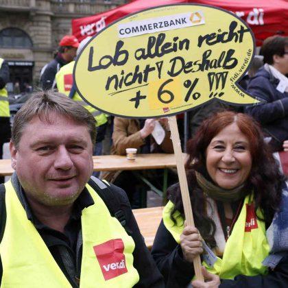 Streikkundgebung der Bankbeschäftigten am 17. Mai 2019 in Franfurt