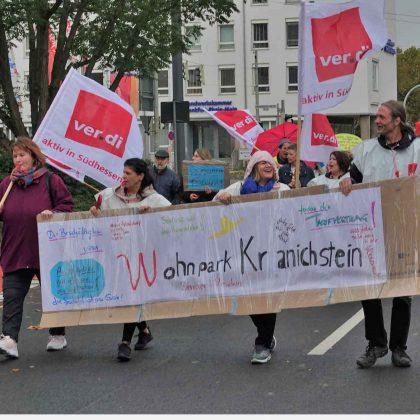 2019-10-19 Warnstreik Wohnpark Kranichstein