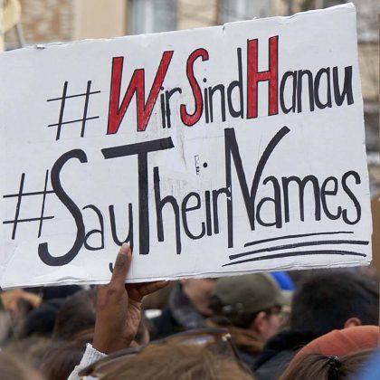 Solidarität statt Spaltung - Trauer um die Opfer der rassistschen Morde am 19. Janaur 2020 in Hanau