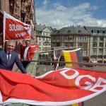 1. Mai 2020 Frankfurt am Main - DGB-Aktion auf dem Römer