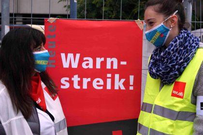 Warnstreik in Offenbach in der Tarifrunde Öffentlicher Dienst 2020