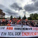 Schwarze-Wolken über Großauheim - Protest am 5.10.2020 gegen die Schließung von Hitachi-ABB