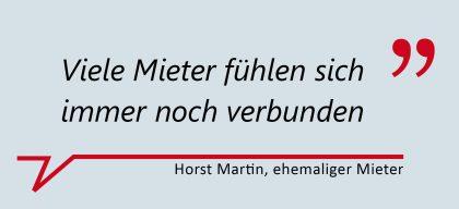 """Morst Martin, ehemaliger Mieter: """"Viele Mieter fühlen sich immer noch verbunden."""""""