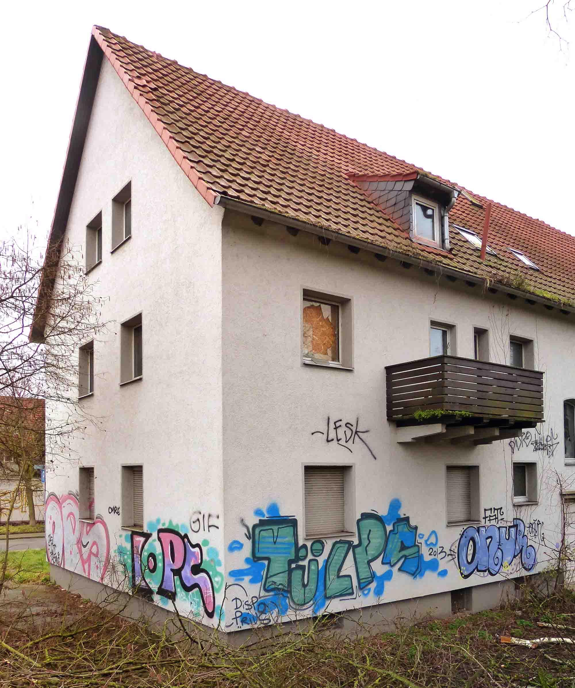 Verwahrlosung der Wohnsiedlung Kinzigheimer Weg