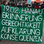 Hanau 19. Februar 2021 - es gibt kein Vergessen