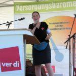 Begrüßung durch verdi-Sekretärin Anja Golder