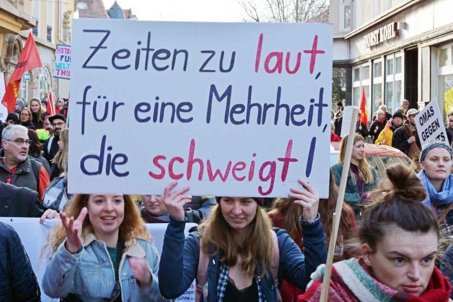 #Nichtmituns - 18.000 demonstrieren am 15. Februar 2020 in Erfurt gegen Pakt mit rechts